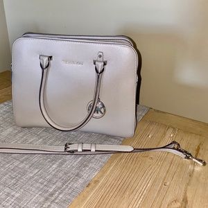 Michael Kors Pearl Gray Satchel Handbag